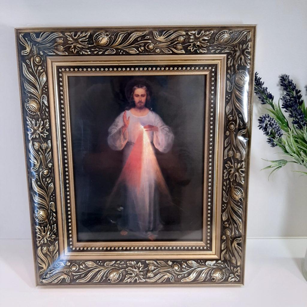 Quadro con cornice Gesù Misericordioso